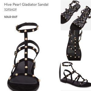 🆕Topshop 'Hive' pearl gladiator sandals